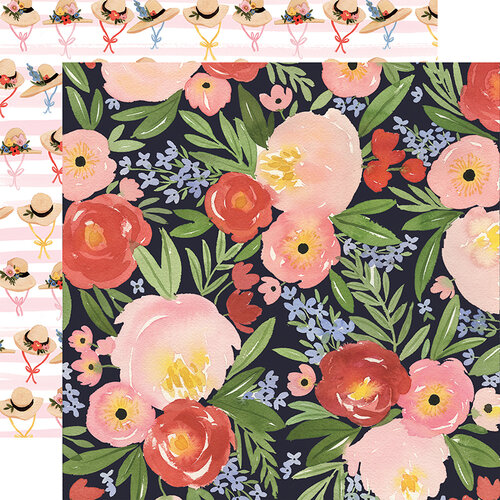 Carta Bella Paper - Oh Happy Day Collection - 12 x 12 Double Sided Paper - Dreamy Floral