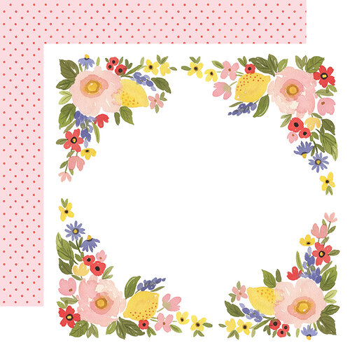 Carta Bella Paper - Oh Happy Day Collection - 12 x 12 Double Sided Paper - Bloom Border