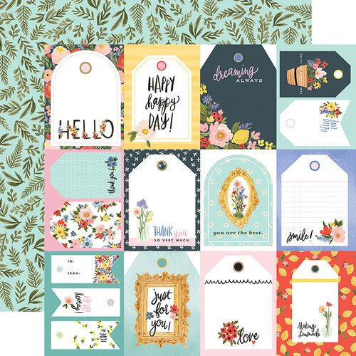 Carta Bella Paper - Oh Happy Day Collection - 12 x 12 Double Sided Paper - Tags