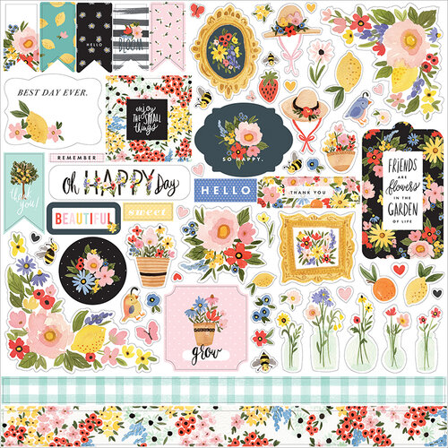 Carta Bella Paper - Oh Happy Day Collection - 12 x 12 Cardstock Stickers - Elements