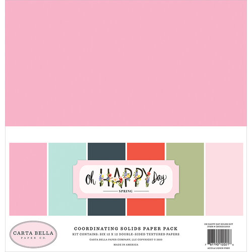 Carta Bella Paper - Oh Happy Day Collection - 12 x 12 Paper Pack - Solids
