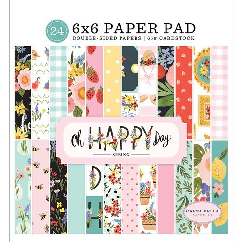 Carta Bella Paper - Oh Happy Day Collection - 6 x 6 Paper Pad