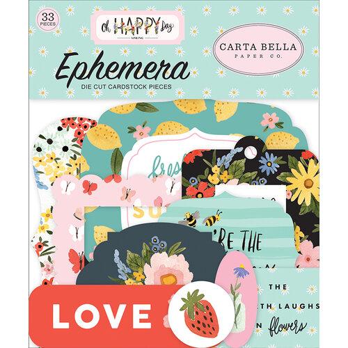 Carta Bella Paper - Oh Happy Day Collection - Ephemera