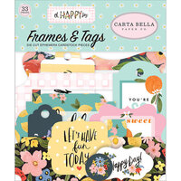 Carta Bella Paper - Oh Happy Day Collection - Ephemera - Frames and Tags