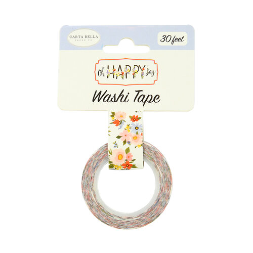 Carta Bella Paper - Oh Happy Day Collection - Decorative Tape - Floral