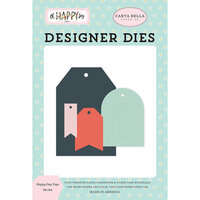 Carta Bella Paper - Oh Happy Day Collection - Decorative Dies - Happy Day Tags