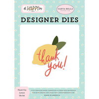 Carta Bella Paper - Oh Happy Day Collection - Decorative Dies - Thank You Lemon