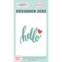 Carta Bella Paper - Oh Happy Day Collection - Decorative Dies - Hello Heart