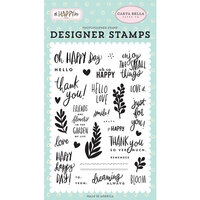 Carta Bella Paper - Oh Happy Day Collection - Clear Photopolymer Stamps - Happy Happy Day