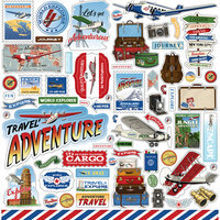 Carta Bella Paper - Our Travel Adventure Collection - 12 x 12 Cardstock Stickers - Elements