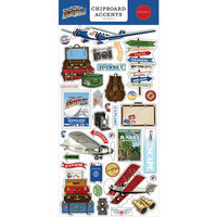 Carta Bella Paper - Our Travel Adventure Collection - Chipboard Embellishments - Accents