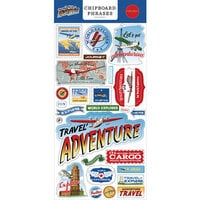 Carta Bella Paper - Our Travel Adventure Collection - Chipboard Embellishments - Phrases