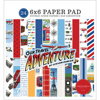 Carta Bella Paper - Our Travel Adventure Collection - 6 x 6 Paper Pad
