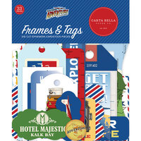 Carta Bella Paper - Our Travel Adventure Collection - Ephemera - Frames and Tags