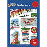 Carta Bella Paper - Our Travel Adventure Collection - Cardstock Sticker Book