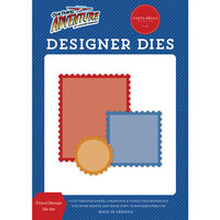 Carta Bella Paper - Our Travel Adventure Collection - Designer Dies - Travel Stamps