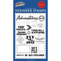 Carta Bella Paper - Our Travel Adventure Collection - Clear Photopolymer Stamps - World Explorer
