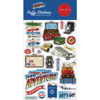 Carta Bella Paper - Our Travel Adventure Collection - Puffy Stickers