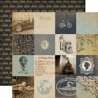 Carta Bella Paper - Old World Travel Collection - 12 x 12 Double Sided Paper - 3 x 3 Cards
