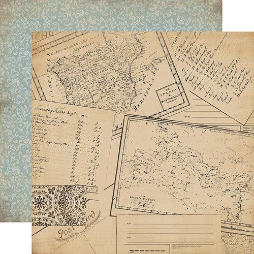 Carta Bella Old World Travel Postcards Paper