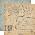 Carta Bella Paper - Old World Travel Collection - 12 x 12 Double Sided Paper - Postcards