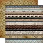 Carta Bella Paper - Old World Travel Collection - 12 x 12 Double Sided Paper - Border Strips