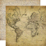 Carta Bella Paper - Old World Travel Collection - 12 x 12 Double Sided Paper - World Traveler