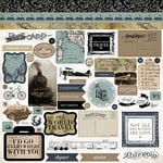 Carta Bella Paper - Old World Travel Collection - 12 x 12 Cardstock Stickers - Elements