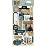 Carta Bella Paper - Old World Travel Collection - Chipboard Stickers