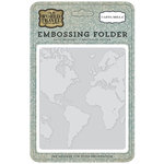 Carta Bella Paper - Old World Travel Collection - Embossing Folder - World Map