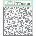 Carta Bella Paper - Old World Travel Collection - 6 x 6 Stencil - Floral 1