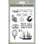 Carta Bella Paper - Old World Travel Collection - Clear Acrylic Stamps - Post Card