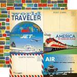 Carta Bella Paper - Passport Collection - 12 x 12 Double Sided Paper - 4 x 6 Journaling Cards