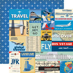 Carta Bella Paper - Passport Collection - 12 x 12 Double Sided Paper - Multi Journaling Cards