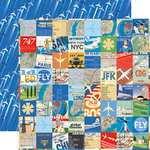 Carta Bella Paper - Passport Collection - 12 x 12 Double Sided Paper - Travel Squares