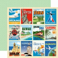 Carta Bella Paper - Passport Collection - 12 x 12 Double Sided Paper - Destination Cards