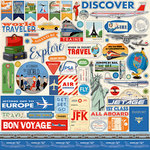 Carta Bella Paper - Passport Collection - 12 x 12 Cardstock Stickers