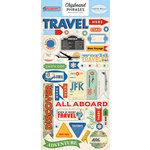 Carta Bella Paper - Passport Collection - Chipboard Stickers - Phrases