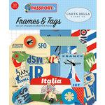 Carta Bella Paper - Passport Collection - Ephemera - Frames and Tags