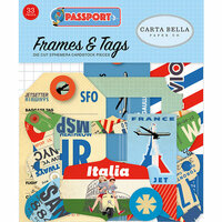 Carta Bella Paper - Passport Collection - Ephemera - Frames and Tags