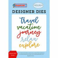 Carta Bella Paper - Passport Collection - Designer Dies - Jetsetter Word