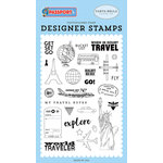 Carta Bella Paper - Passport Collection - Clear Acrylic Stamps - Get Set Go