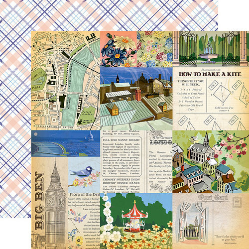 Carta Bella Paper - Practically Perfect Collection - 12 x 12 Double Sided Paper - Walk in the Park