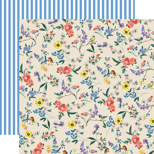 Carta Bella Paper - Practically Perfect Collection - 12 x 12 Double Sided Paper - Garden Melody