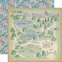 Carta Bella Paper - Practically Perfect Collection - 12 x 12 Double Sided Paper - City Park
