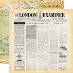 Carta Bella Paper - Practically Perfect Collection - 12 x 12 Double Sided Paper - London Examiner