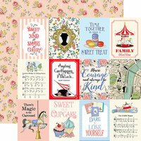 Carta Bella Paper - Practically Perfect Collection - 12 x 12 Double Sided Paper - 3 x 4 Journaling Cards