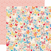Carta Bella Paper - Practically Perfect Collection - 12 x 12 Double Sided Paper - Beautiful Butterflies