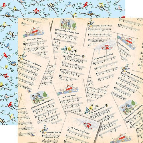 Carta Bella Paper - Practically Perfect Collection - 12 x 12 Double Sided Paper - Sweet Songs