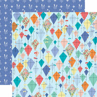 Carta Bella Paper - Practically Perfect Collection - 12 x 12 Double Sided Paper - Dancing Kites